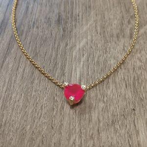 Kate Spade Pink Gumdrop Solitaire Necklace